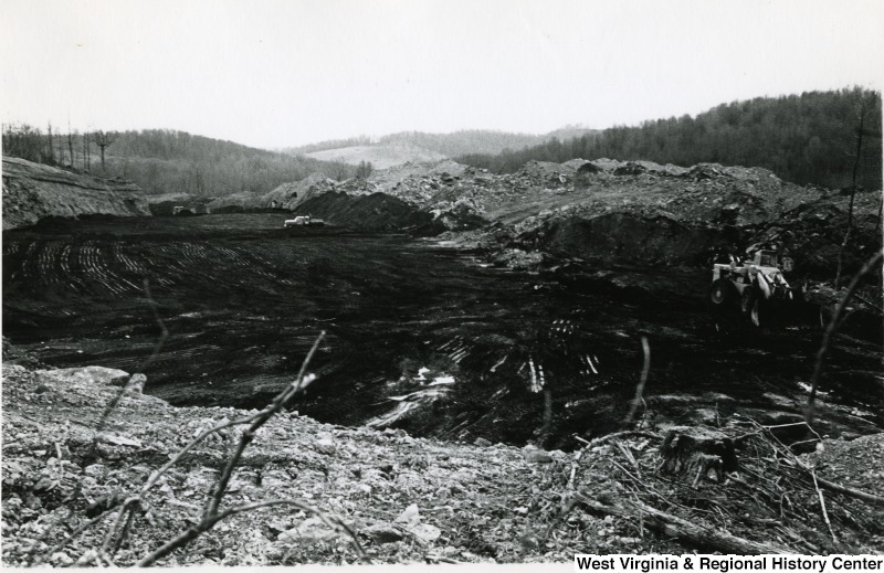 Strip mine operation circa 1970
