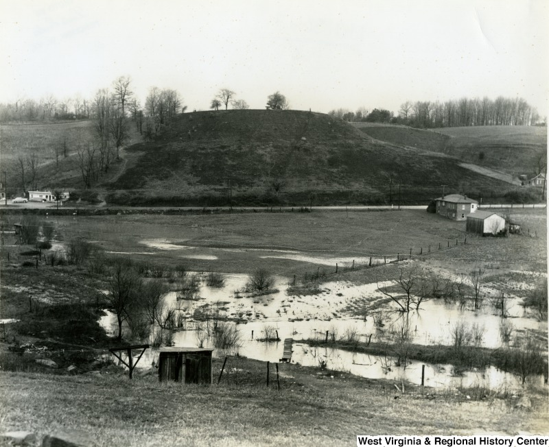 Flooded farm field in Mercer County ca. 1957