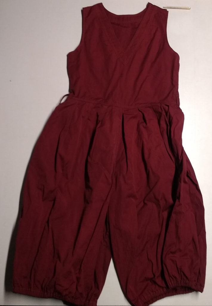 Maroon WVU womens gym suit from 1920s