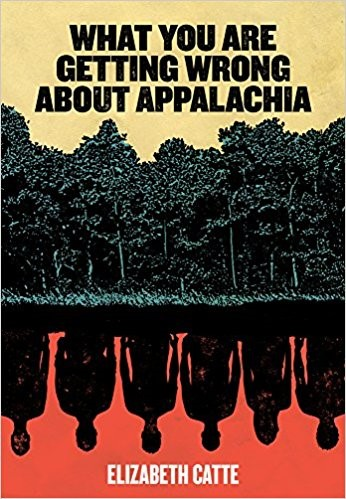 Cover of book What You are Getting Wrong about Appalachia, showing trees and the silhouettes of people upside-down