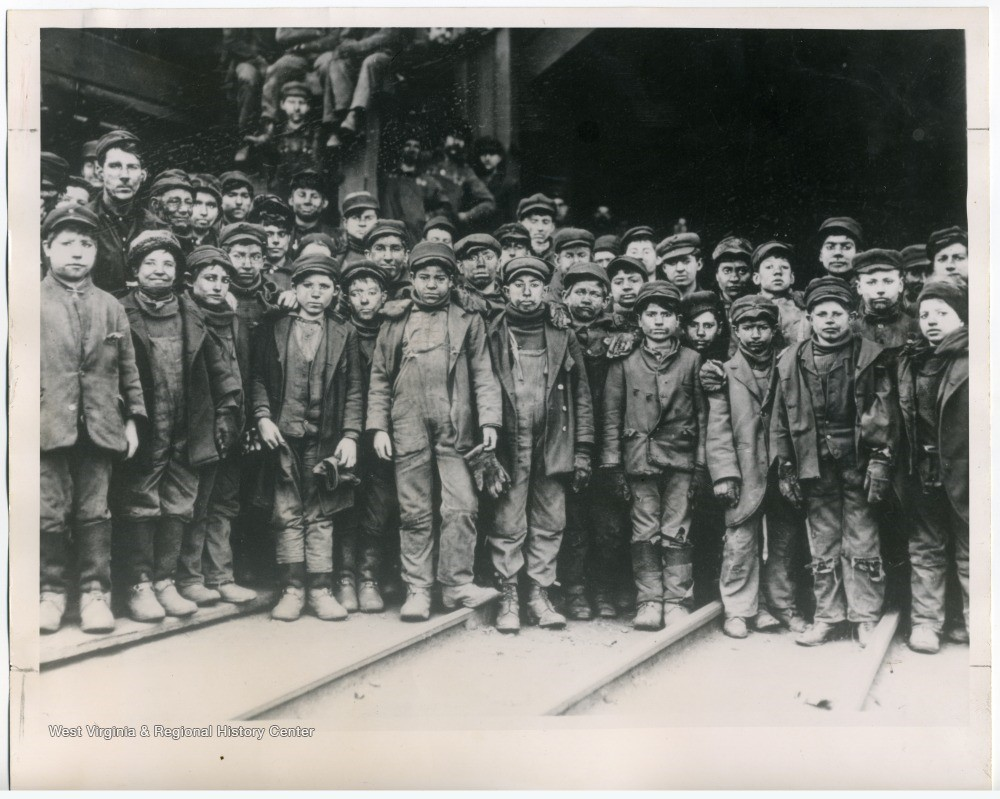 Group photo of child miners, 1911