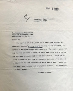 Arch Moore letter