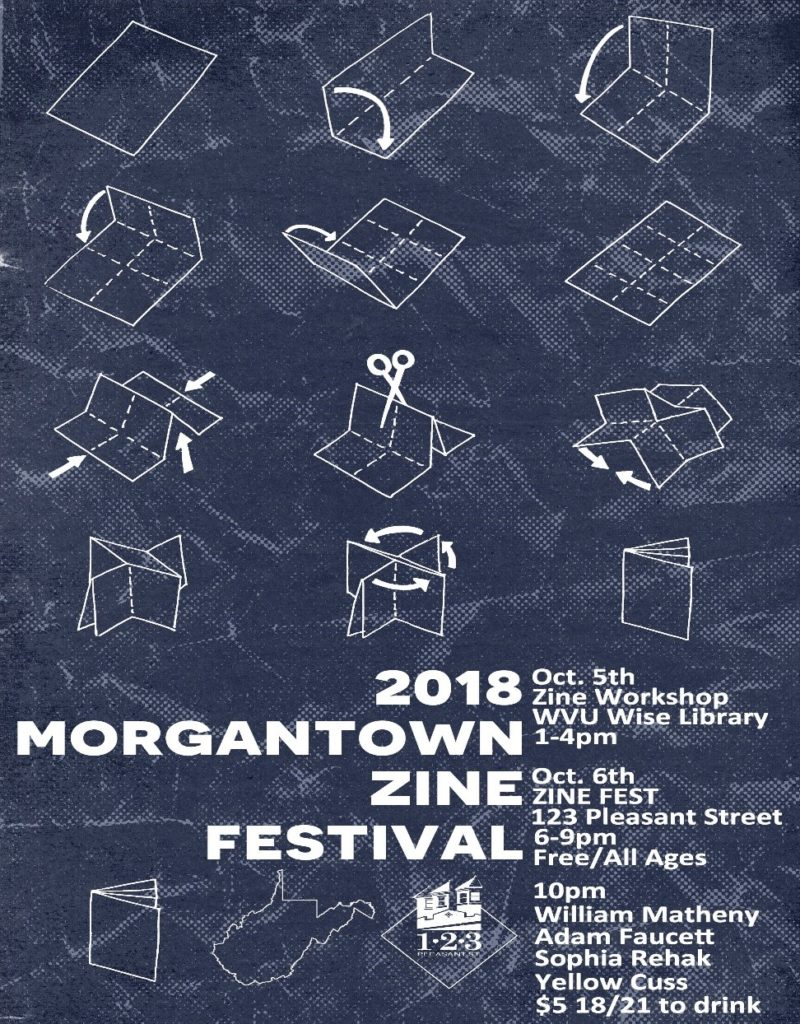 Advertisement for 2018 Morgantown Zine Festival