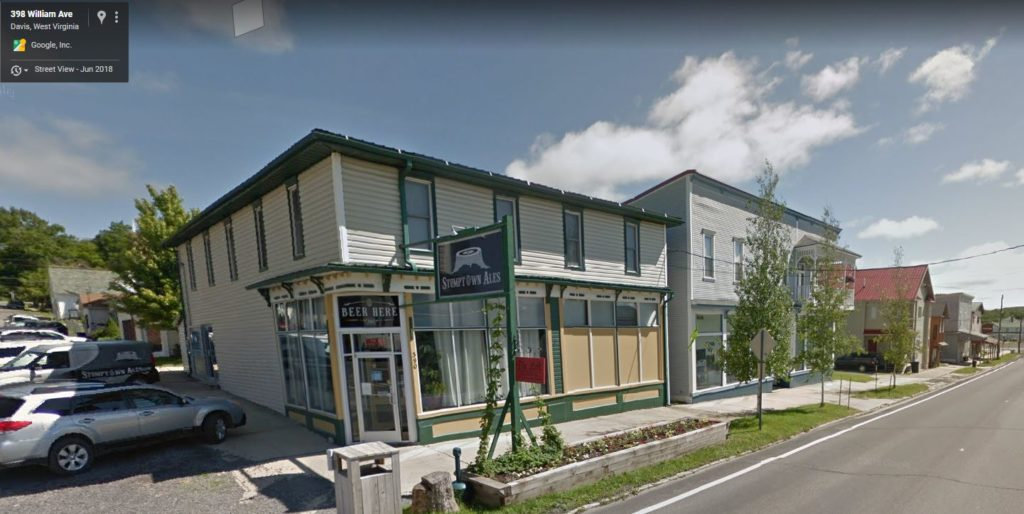 Google Street View Image of William Avenue buildings in Davis, WV