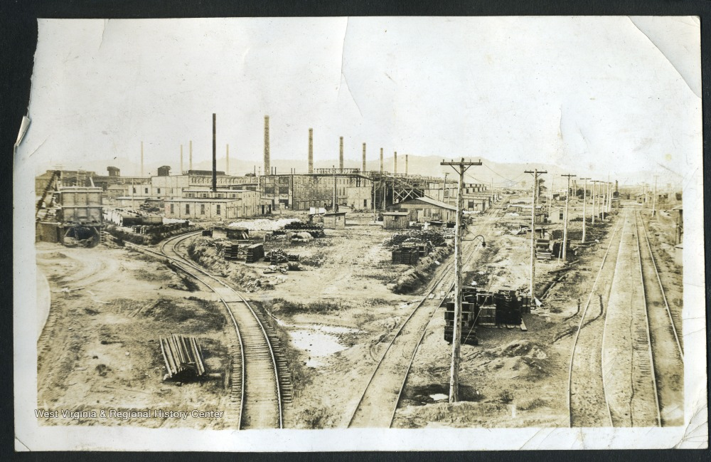 Photograph of Factories and Railroad at Nitro, W. Va., 1918-1919