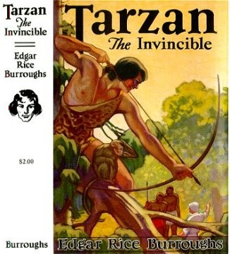 """Spine and cover of """"Tarzan the Invincible"""" book"""