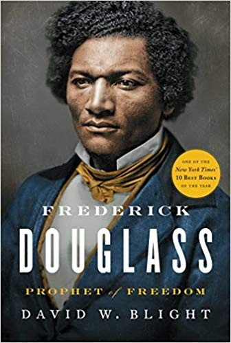 Cover of book Frederick Douglass: Prophet of Freedom, showing a color portrait of Douglass