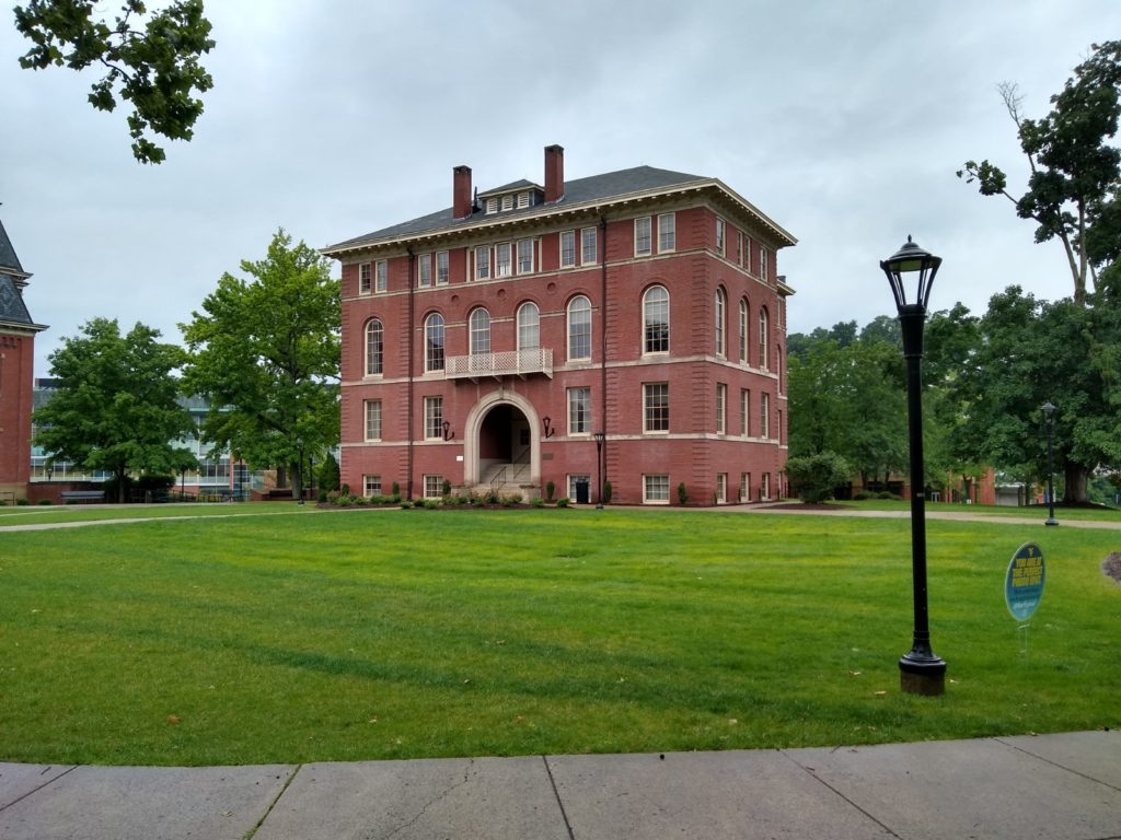 Chitwood Hall, a brick building