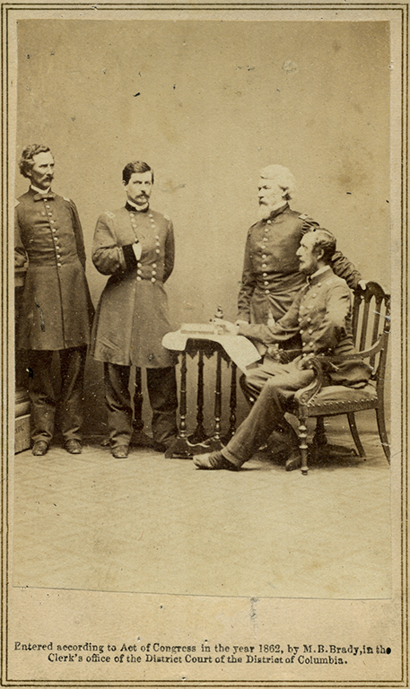 Portrait of General McClellan and his staff
