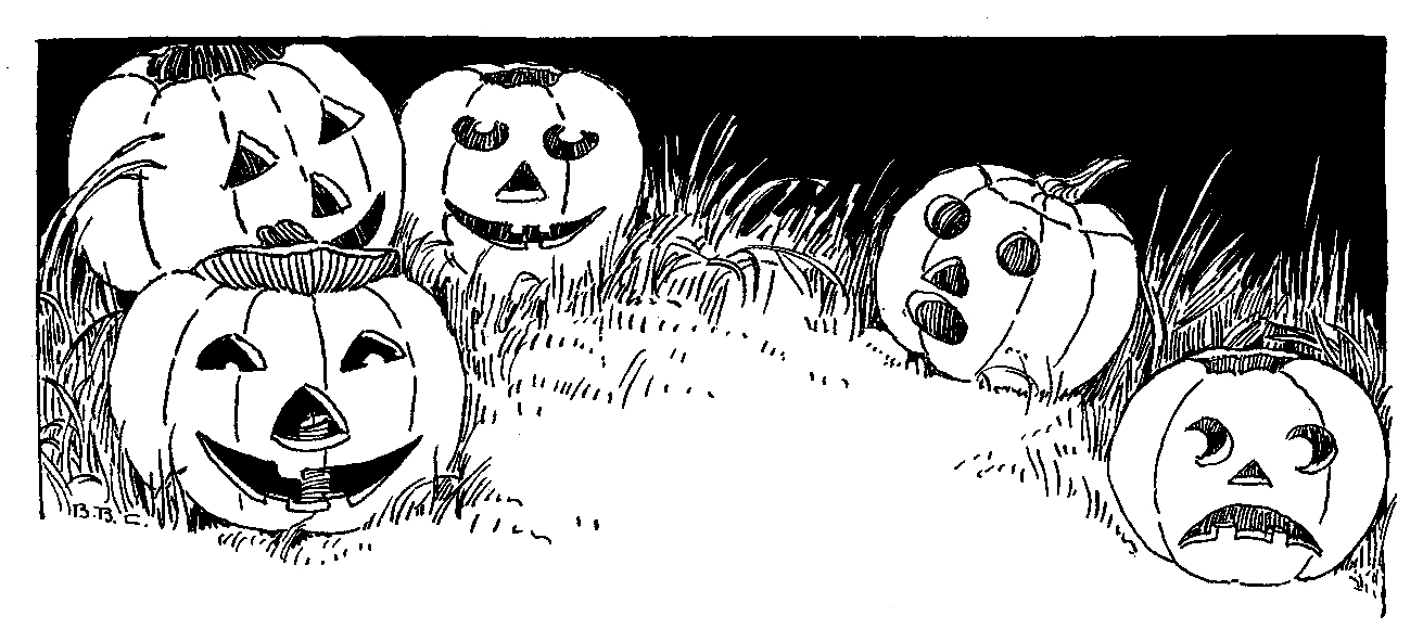 Carved jack-o-lanterns sketch