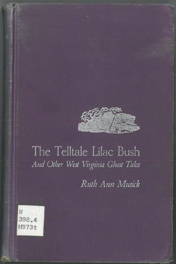 Purple book cover of The Telltale Lilac Bush, with small bush design