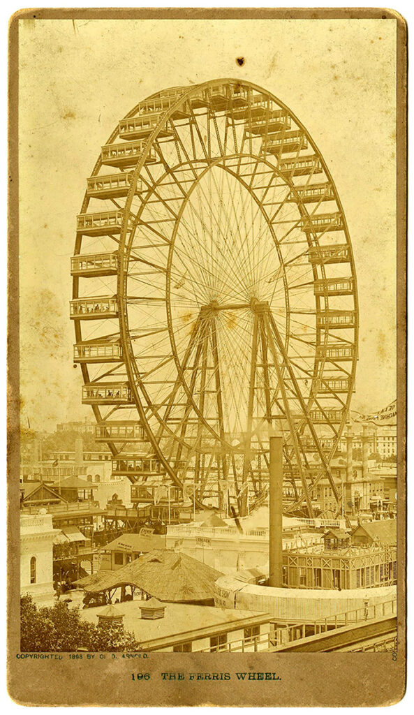 View of the world's first Ferris Wheel