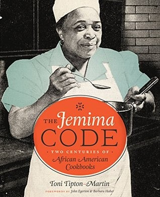 Book cover of The Jemima Code, featuring an African American woman chef