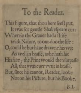 "Ben Jonson's preface ""To the Reader"""