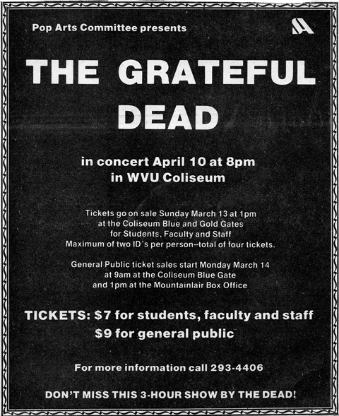 Invitation to Grateful Dead concert