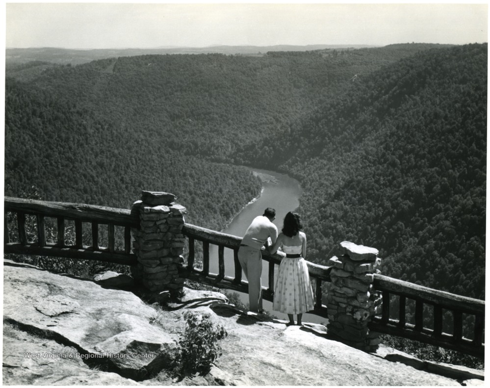 Young Couple Enjoying the View from the Overlook
