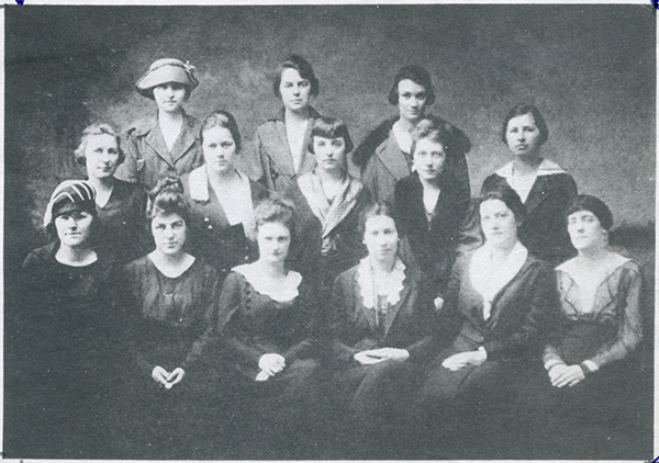 Group picture of Women's Suffrage League