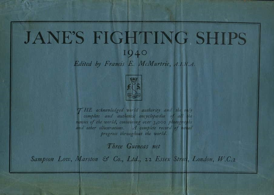 "Cover of book ""Jane's Fighting Ships"""