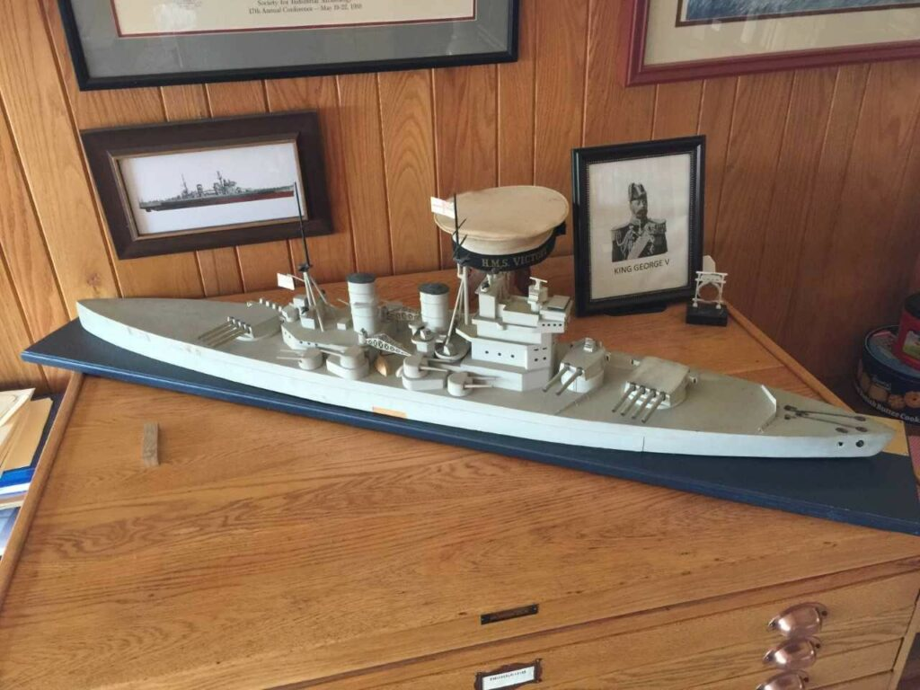 Model ship, likely HMS King George V