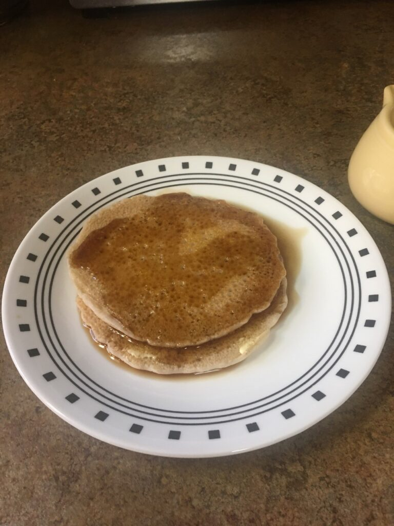 Buckwheat cakes in maple syrup