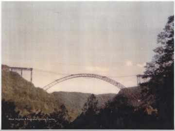 New River Gorge Bridge under construction