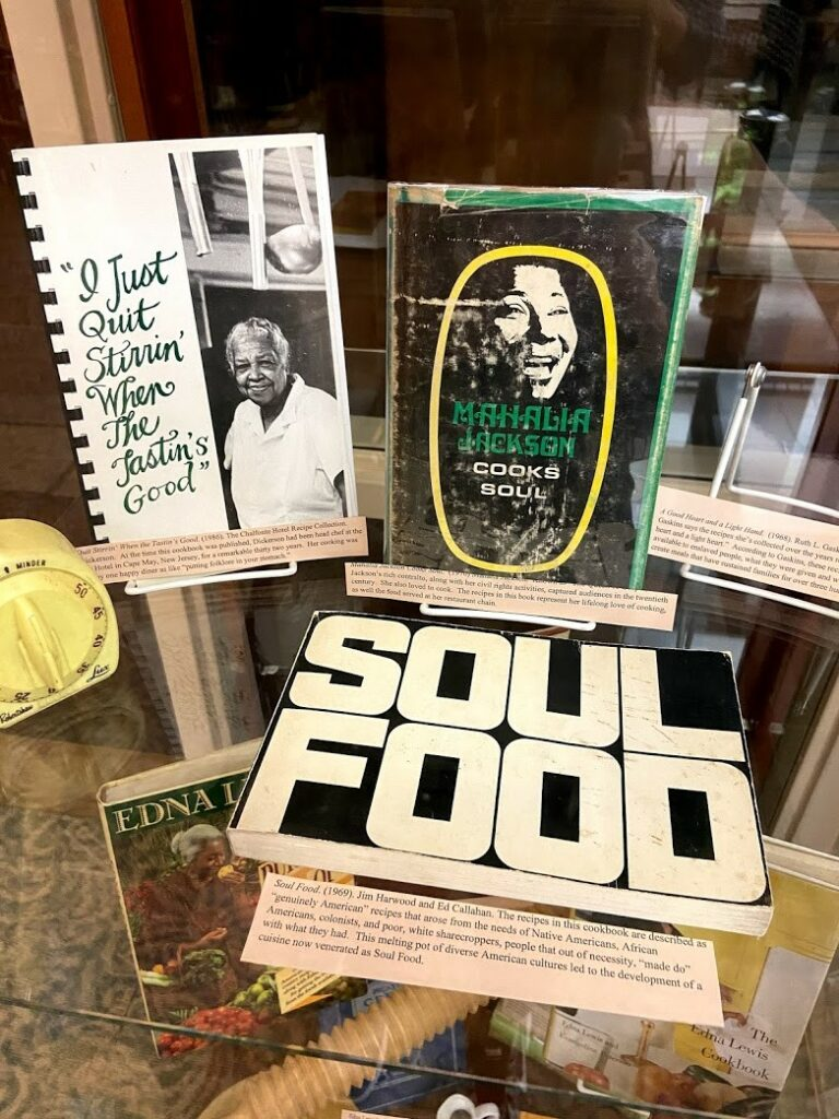 Display of cookbooks featuring Black women