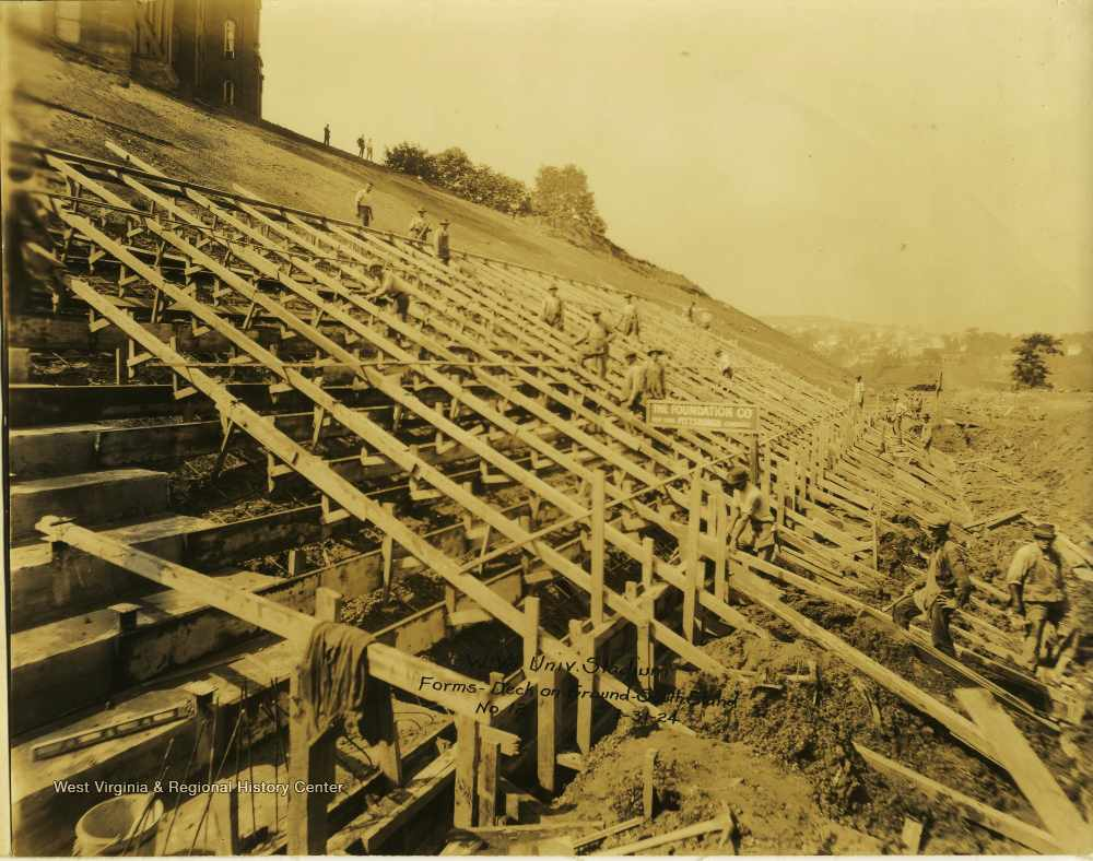 Construction of Mountaineer Field