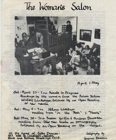 Women's Salon newsletter cover