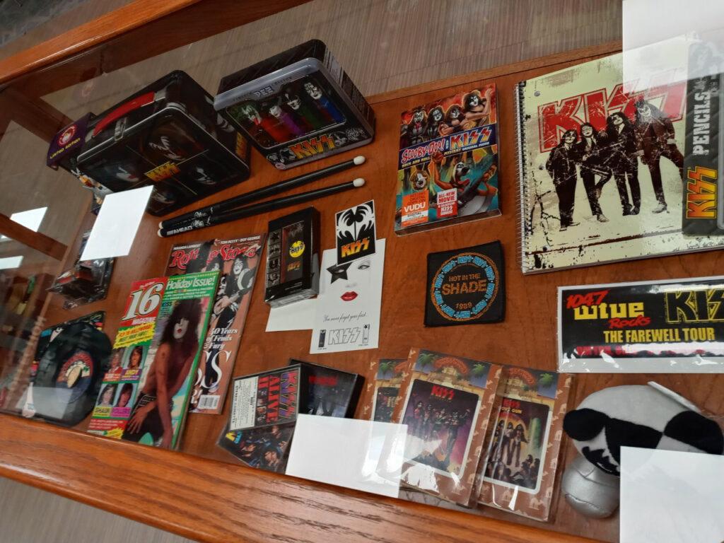 Collection of KISS memorabilia