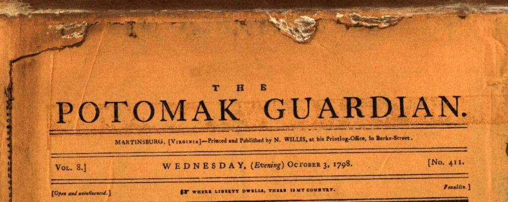 Nameplate of the Potomak Guardian newspaper